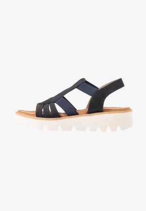 Platform sandals - pazifik