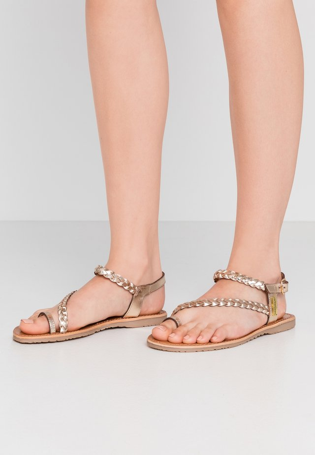 HIDEA - T-bar sandals - or