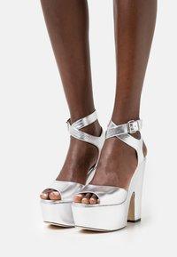 Christopher Kane - PLATFORM - High Heel Sandalette - silver - 0