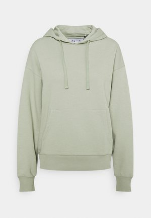BASIC FRONT POCKET HOODIE - Sweater - green