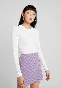 Monki - LILIANA - Long sleeved top - offwhite - 0