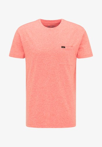 ULTIMATE POCKET TEE - T-shirt med print - aurora red