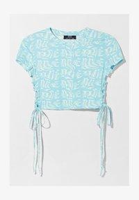Bershka - T-shirt med print - turquoise - 5