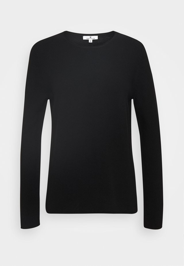 WITH STRUCTURE - Jumper - deep black