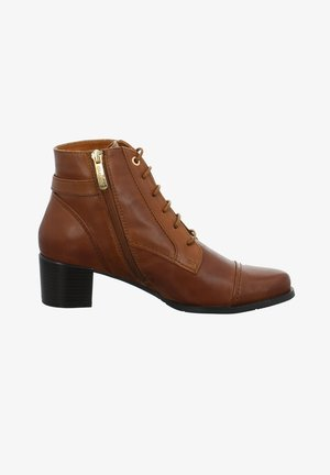 JOLENE - Lace-up ankle boots - braun