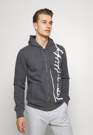 SIGNATURE HOODED ZIP THROUGH - Bluza rozpinana - grey