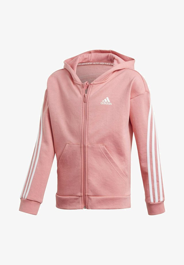 3-STRIPES FULL-ZIP HOODIE - Huvtröja med dragkedja - pink