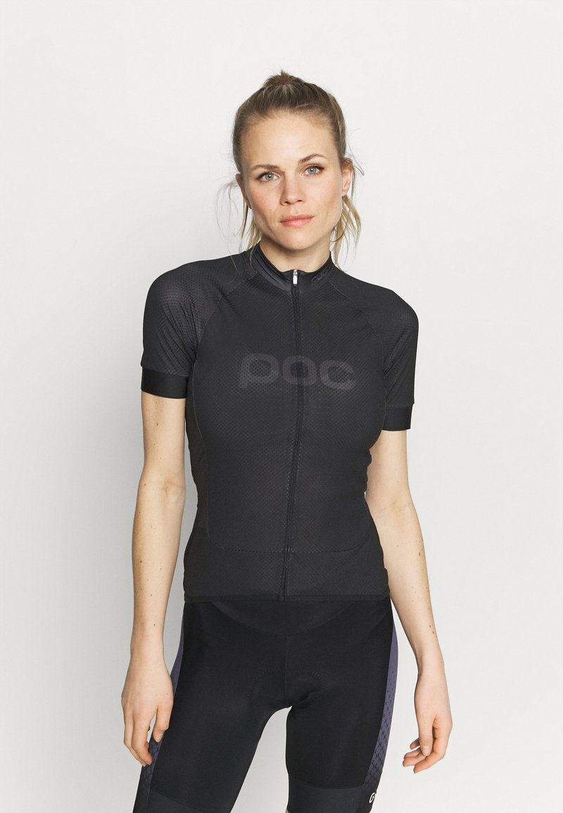 POC - ESSENTIAL ROAD LOGO - T-Shirt print - uranium black