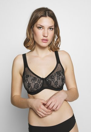MINIMIZER BRA - Underwired bra - black/nougat