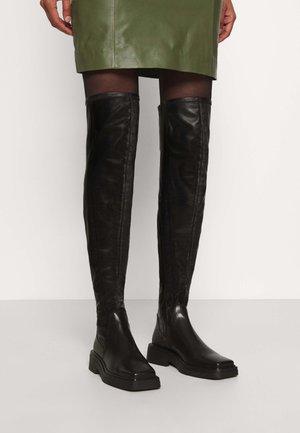 EYRA - Overknee laarzen - black