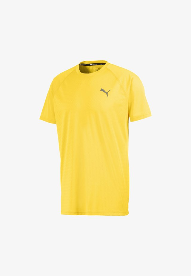 TECH TRAINING MAND - Basic T-shirt - ultra yellow