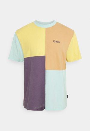 COLOUR PANEL TEE - Print T-shirt - yellow orange purple mint
