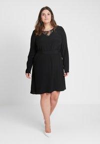 Zizzi - XGRENADINE DRESS - Robe d'été - black - 1