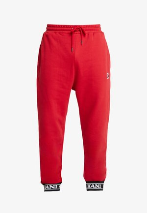 RETRO TRACKPANTS - Spodnie treningowe - red