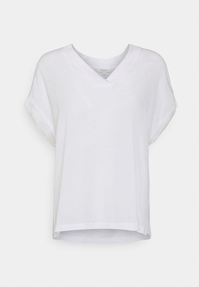 BLOUSE V NECK - Top - white