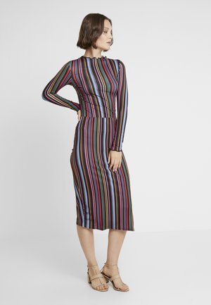CARLY STRIPE LETTUCE HEM SET - Pencil skirt - multi