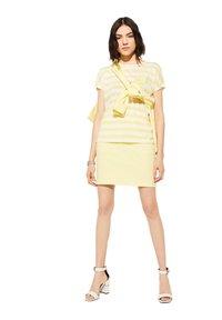 comma casual identity - KURZARM - Print T-shirt - light yellow stripes - 4