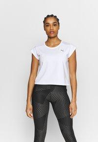 Puma - TRAIN TEE - T-Shirt basic - white - 0