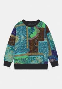 Versace - PRINT PATCHWORK HERITAGE ANIMALIER - Sweatshirt - light blue/blue/multicolor - 0