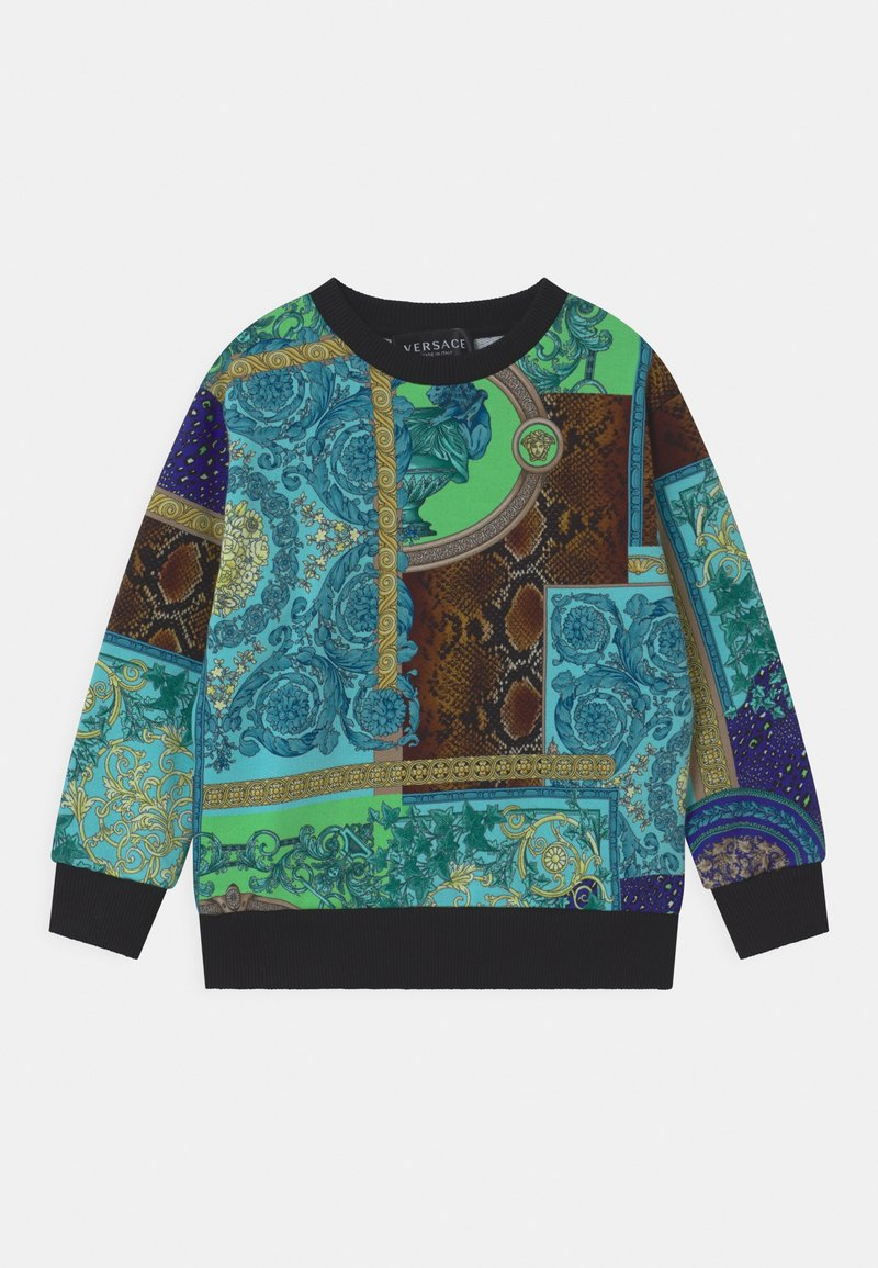 Versace - PRINT PATCHWORK HERITAGE ANIMALIER - Sweatshirt - light blue/blue/multicolor