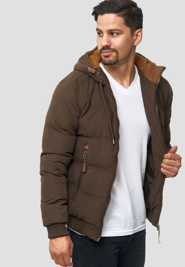 Winterjas - mottled brown