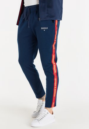 SMART CROWN PANTS - Tracksuit bottoms - navy/red