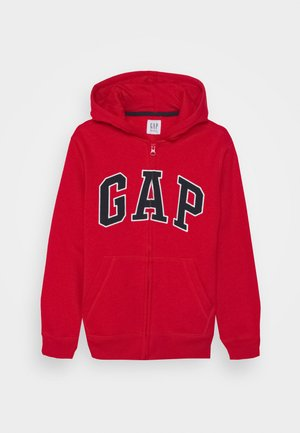 BOY NEW ARCH HOOD - Mikina na zip - pure red