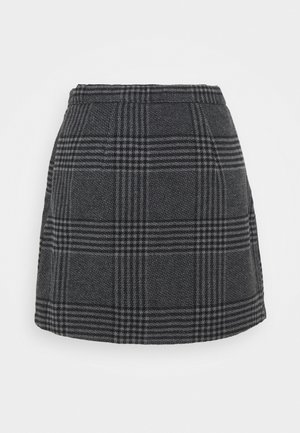 WEBEX PLAID MINI - Mini skirt - black
