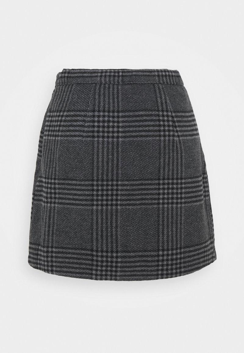 Abercrombie & Fitch - WEBEX PLAID MINI - Mini skirt - black
