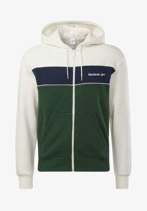 CLASSICS LINEAR FULL-ZIP HOODIE - Zip-up hoodie - white