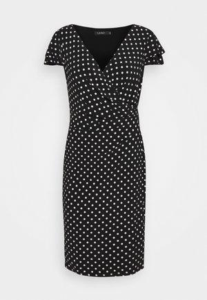 PRINTED MATTE DRESS - Etui-jurk - black