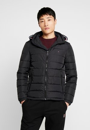 QUILTED HOODED JACKET - Light jacket - black