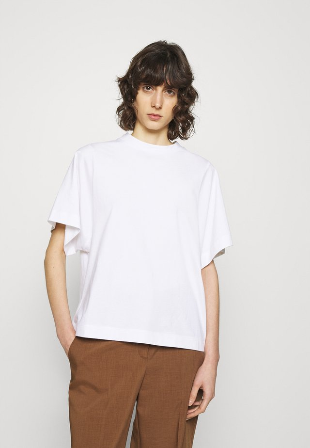 SLFPALM HIGH NECK TEE - Basic T-shirt - bright white