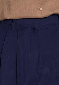 Anna Field - Basic wide leg pants - Trousers - dark blue - 4