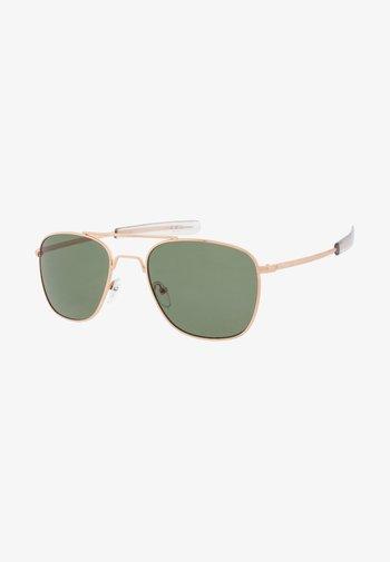 RYAN - Sunglasses - gold/green