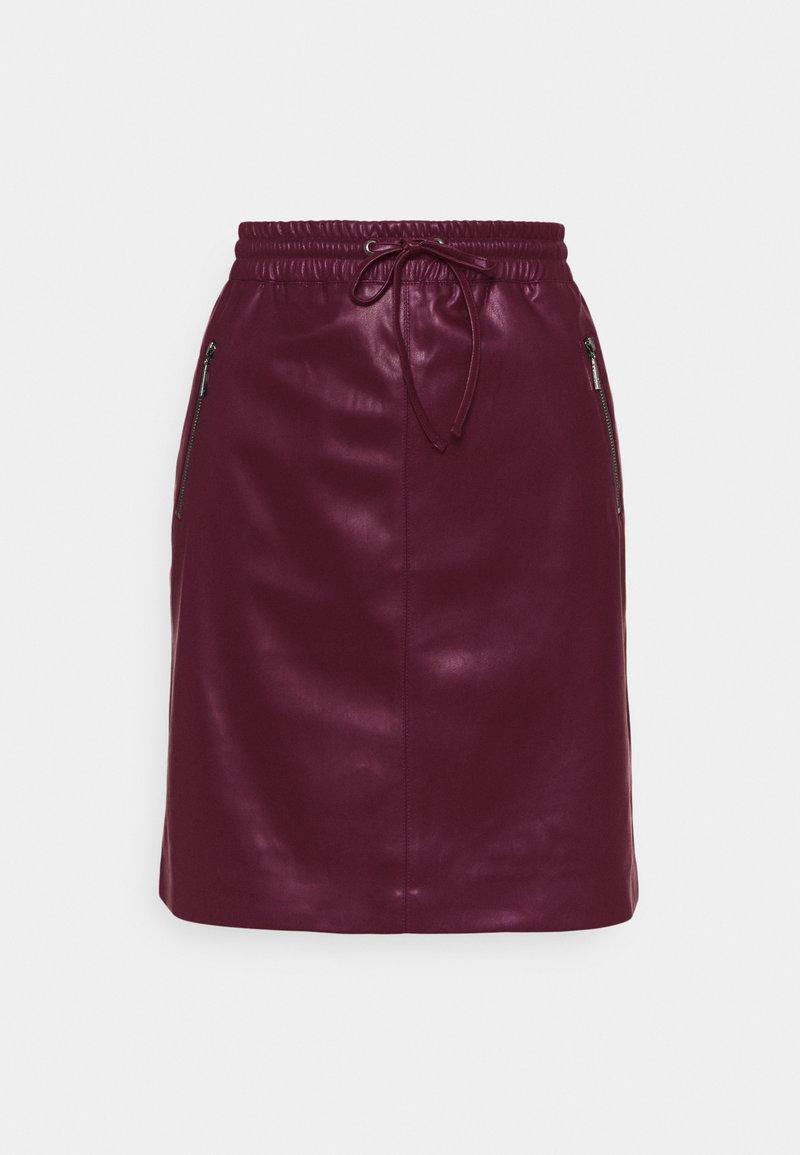 comma - A-line skirt - berry