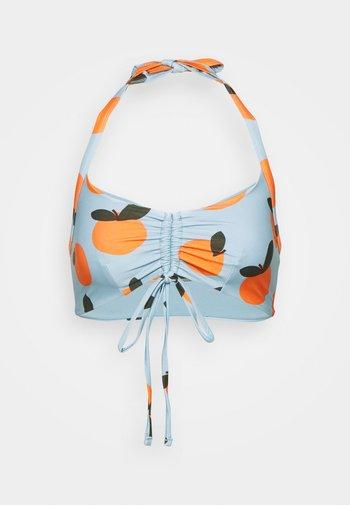 ECO RITA GATHERED FRONT CROP - Bikini top - multi-coloured