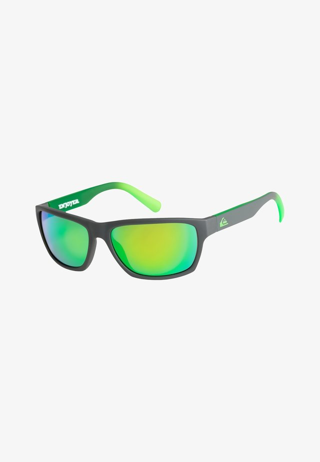 ENJOYER - Sunglasses - matte crystal smoke/flashgreen