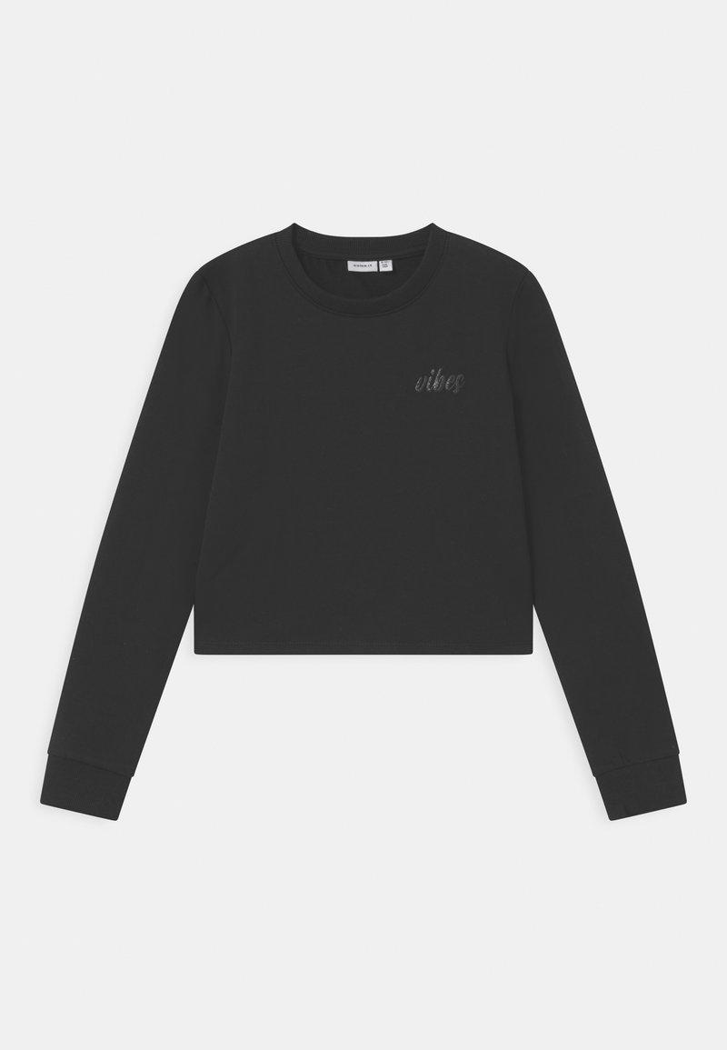 Name it - NKFTINTURN CROP - Sweatshirt - black