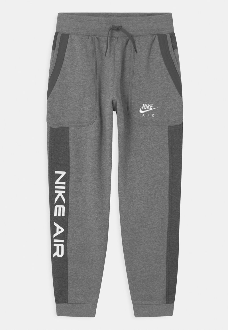 Nike Sportswear - AIR - Tracksuit bottoms - carbon heather/charcoal heathr/white
