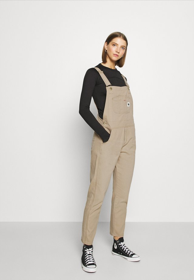 BIB OVERALL - Haalari - dusty brown