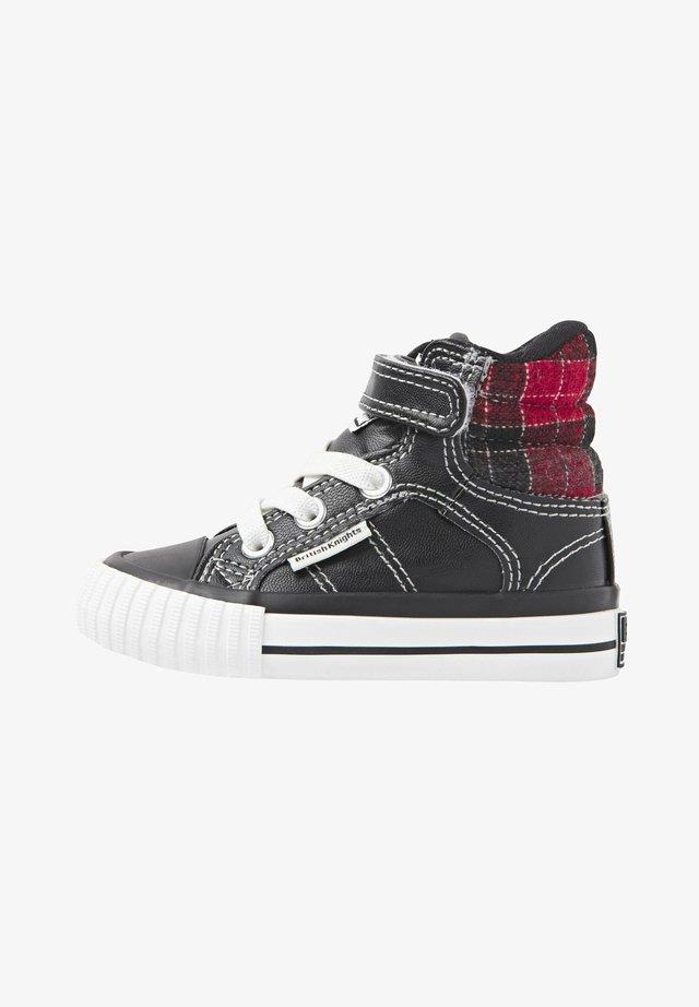 SNEAKER ATOLL - Vysoké tenisky - black/red checker