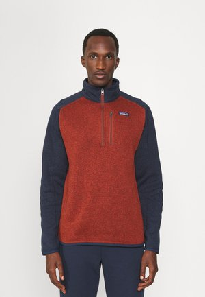 BETTER SWEATER 1/4 ZIP - Sweat polaire - barn red/new navy