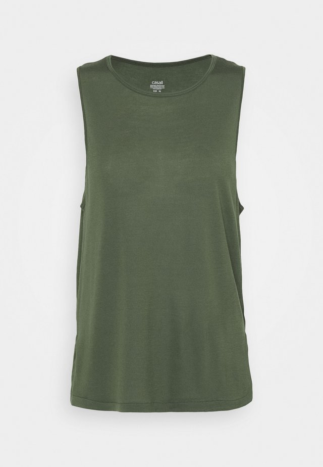 DRAPY MUSCLE TANK - Linne - northern green