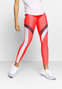Under Armour - UA HG ARMOUR SPORT LEGGINGS - Punčochy - red/halo gray/metallic silver - 0