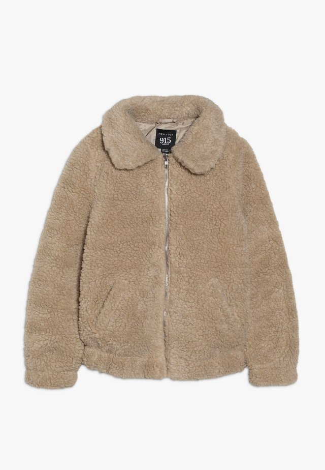 OVERSIZED BORG JACKET  - Summer jacket - stone