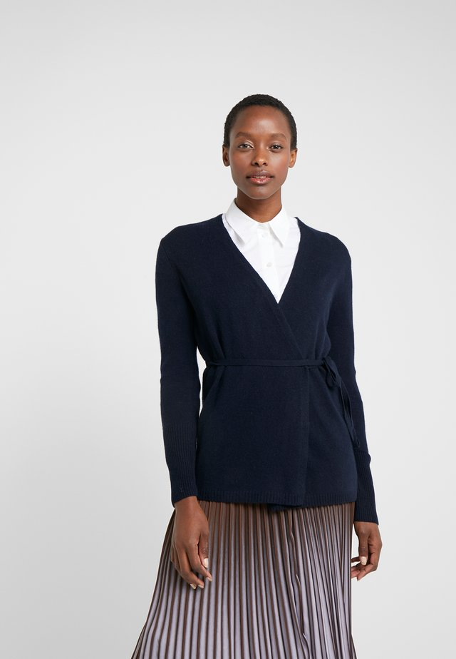 WRAP CARDIGAN - Kardigan - dark navy