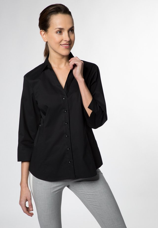 MODERN CLASSIC - Button-down blouse - black