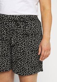 Dorothy Perkins Curve - TIE WAIST SPOT PRINT - Shorts - black - 4