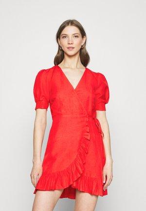 BOSTON WRAP SKATER DRESS - Sukienka letnia - red